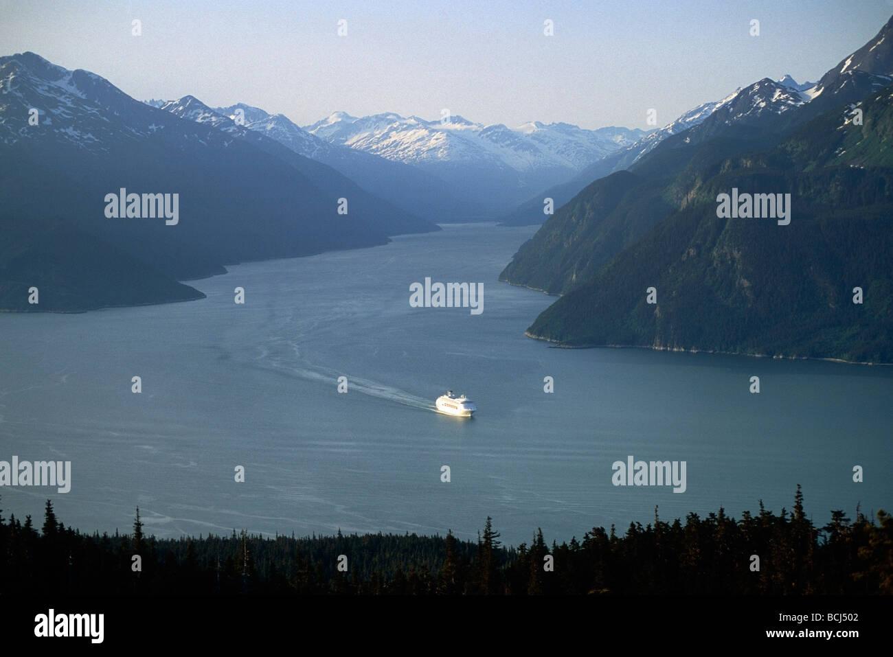 Princess Cruiseship in Taiya Inlet Southeast Alaska - Stock Image