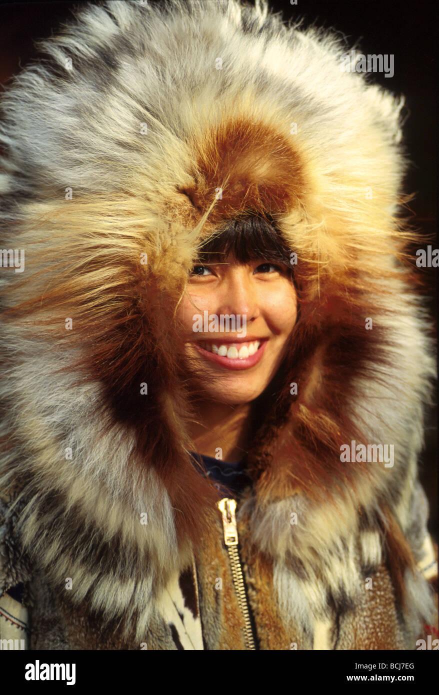 Alaska native girl in fur stock photos alaska native - Interior women s health fairbanks ak ...