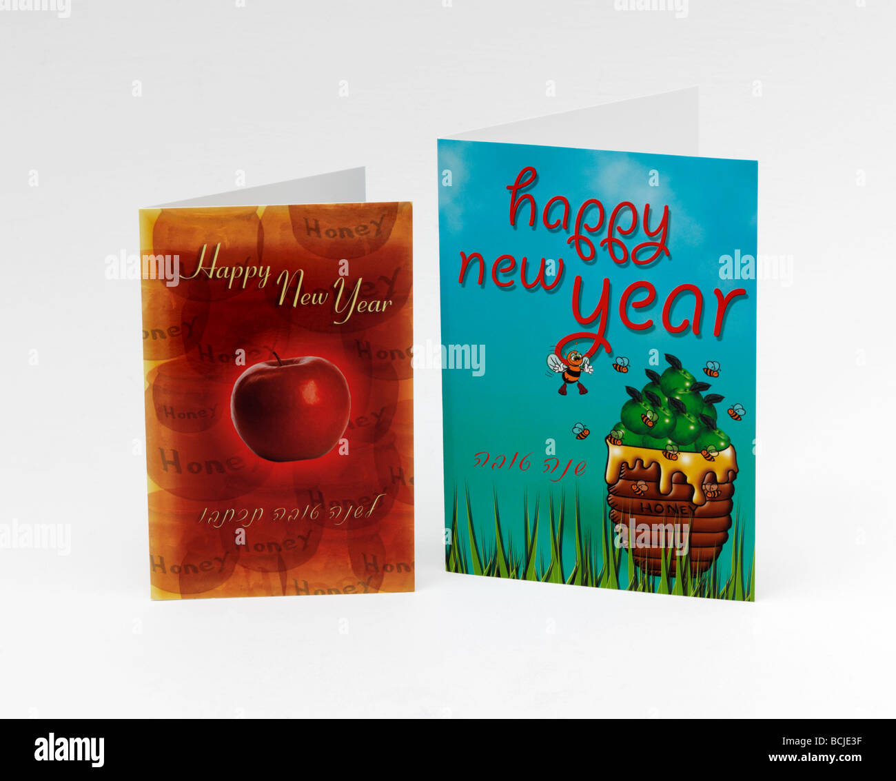 Rosh Hashanah Cards Jewish New Year Honey And Apples Traditionally