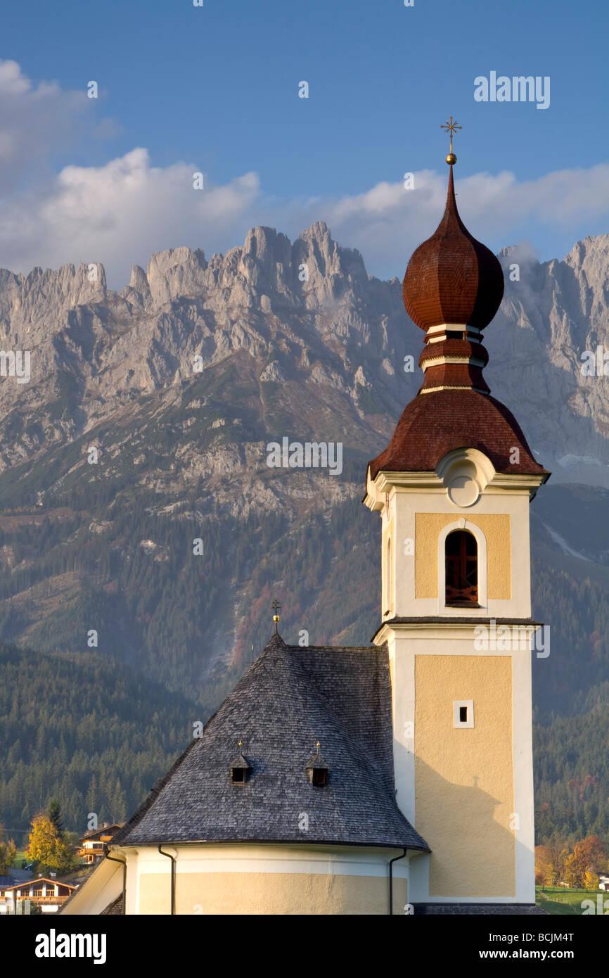 Going, Wilder Kaiser Mountains, Tirol, Austria - Stock Image