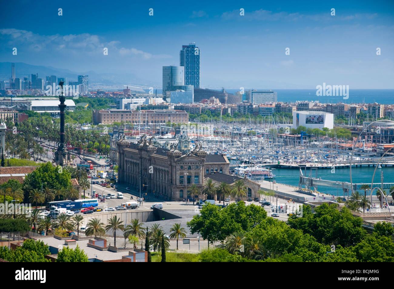 Spain, Barcelona, Port Vell (Old Port) - Stock Image