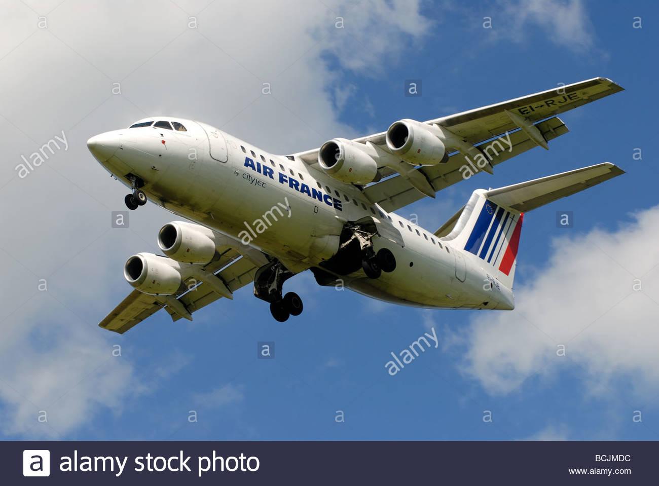 Air France (Cityjet) Avro Regional Jet RJ85 EI-RJE - Stock Image