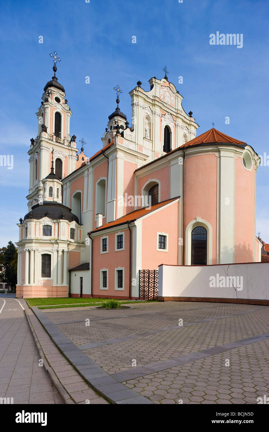 Lithuania, Vilnius, St Catherine's Church and the Benedictine Nunnery Stock Photo