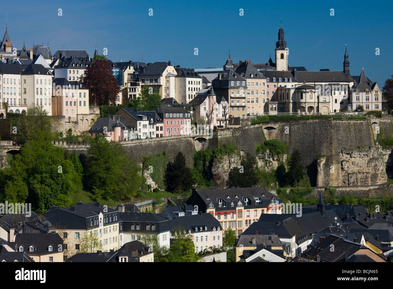 Luxembourg, Luxembourg City, Grund lower town - Stock Image