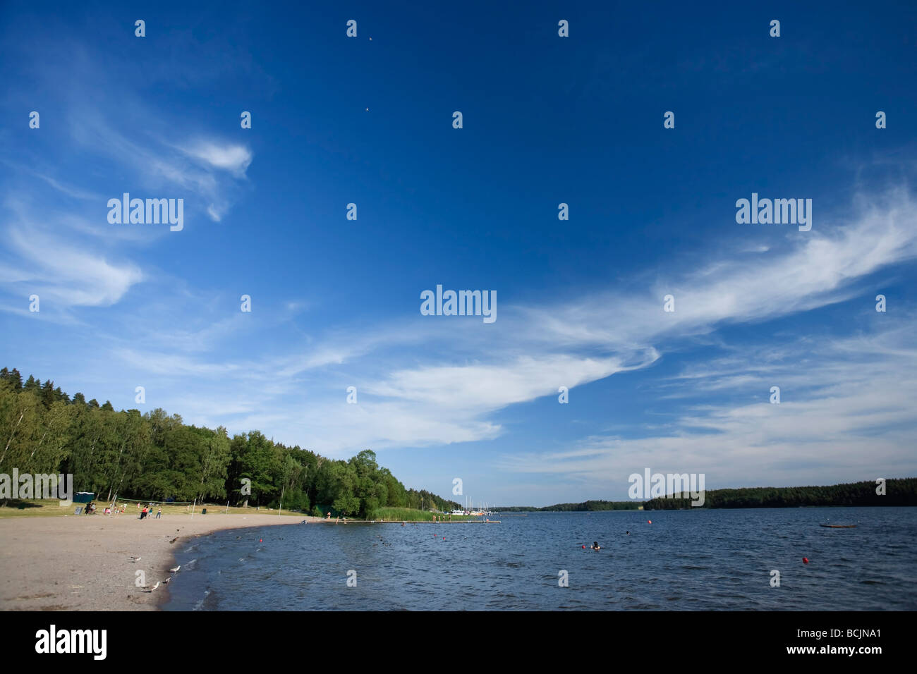 Hasselby Strand Beach, Stockholm Archipelago, Stockholm, Sweden - Stock Image