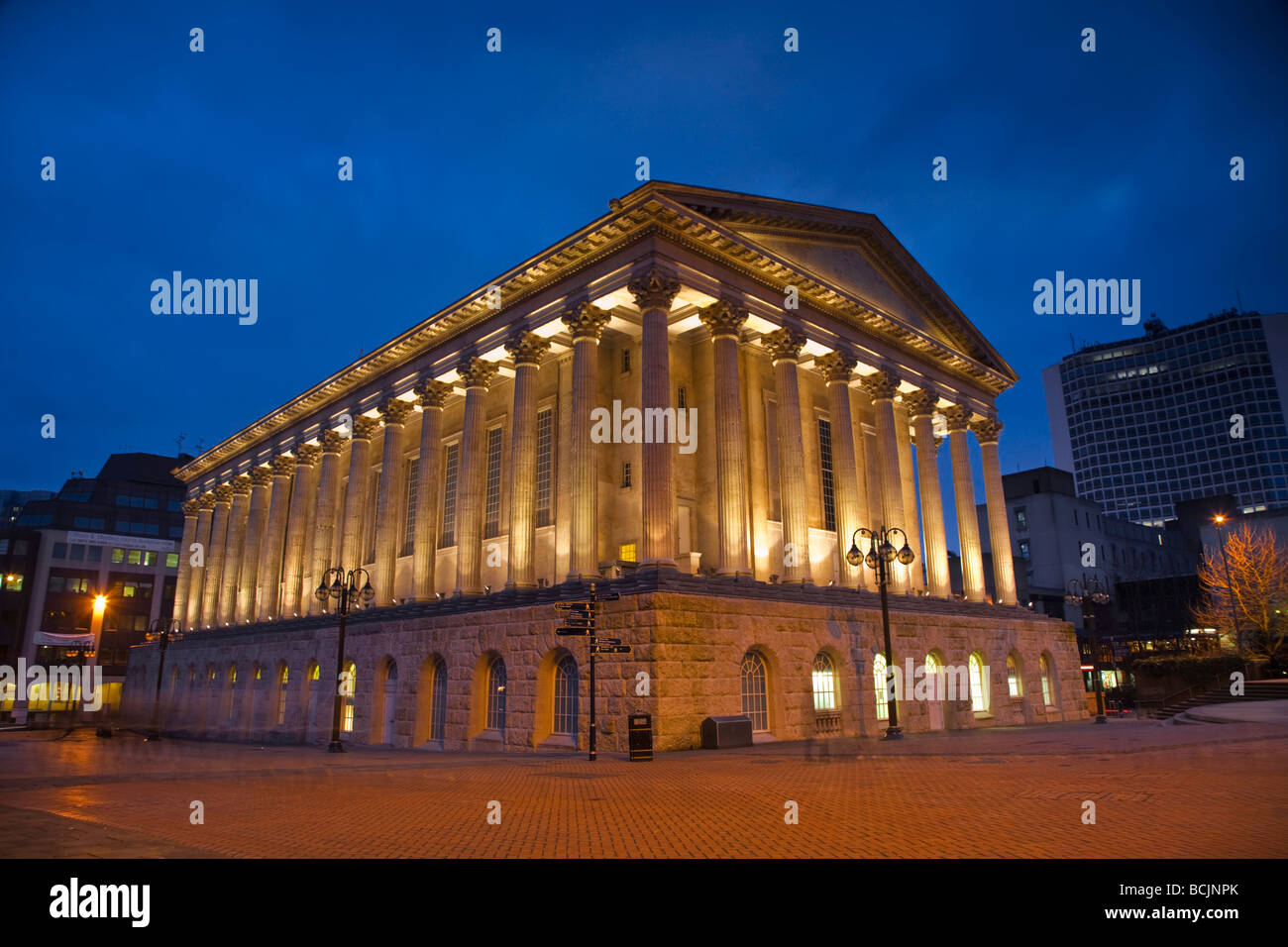 England, West Midlands, Birmingham, Town Hall - Stock Image