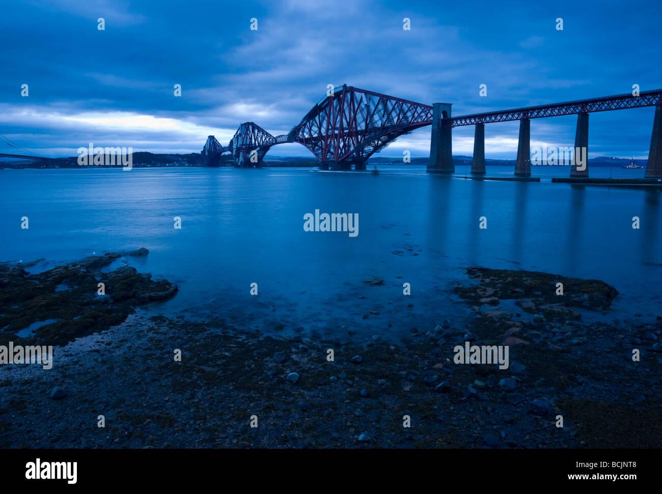 UK, Scotland, Edinburgh, Firth of Forth, The Forth Rail Bridge - Stock Image