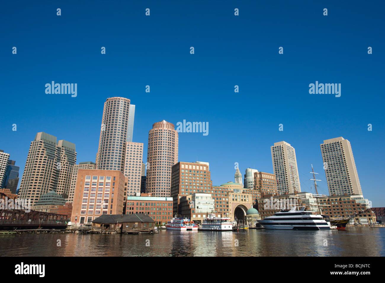USA, Massachusetts, Boston, Rowe's Wharf - Stock Image