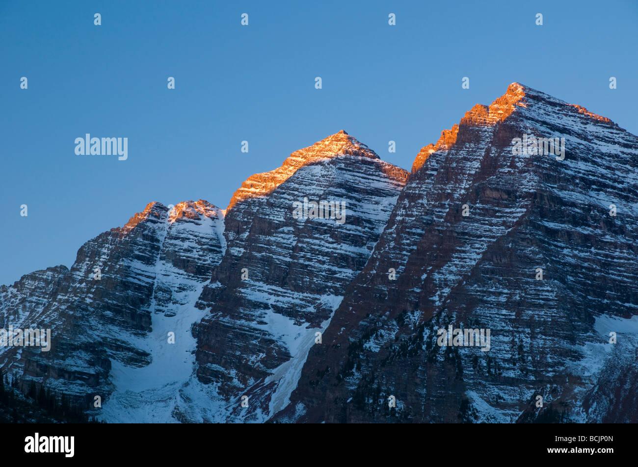 USA, Colorado, Maroon Bells - Stock Image
