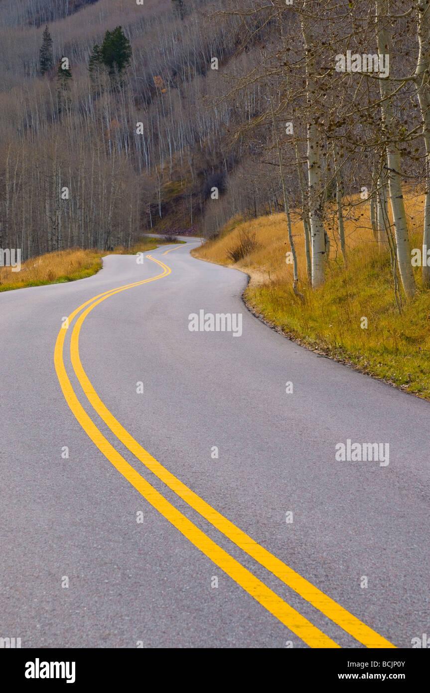 USA, Colorado, Maroon Bells Scenic Area - Stock Image