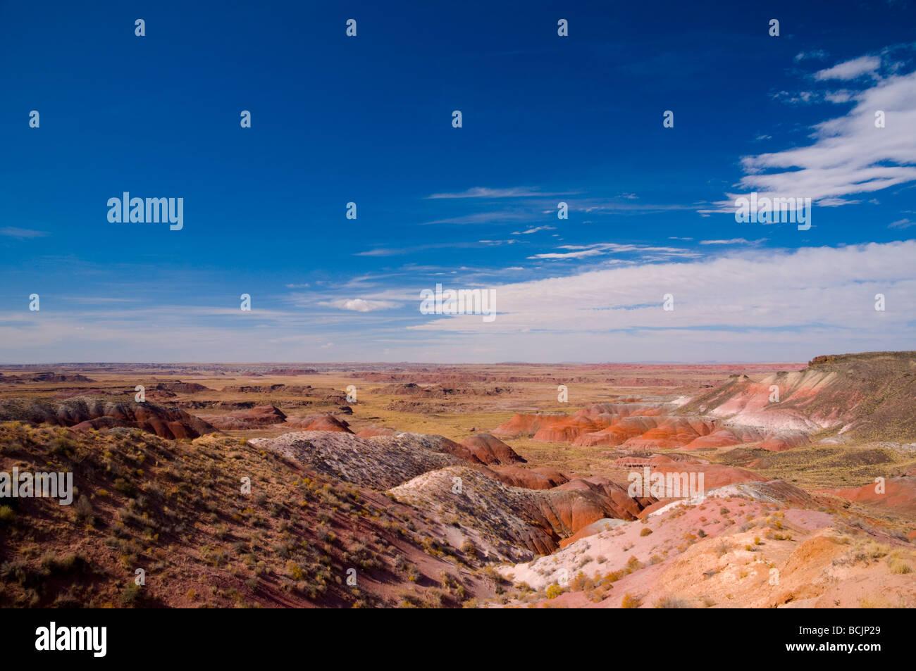 USA, Arizona, Petrified Forest National Park, Painted Desert - Stock Image
