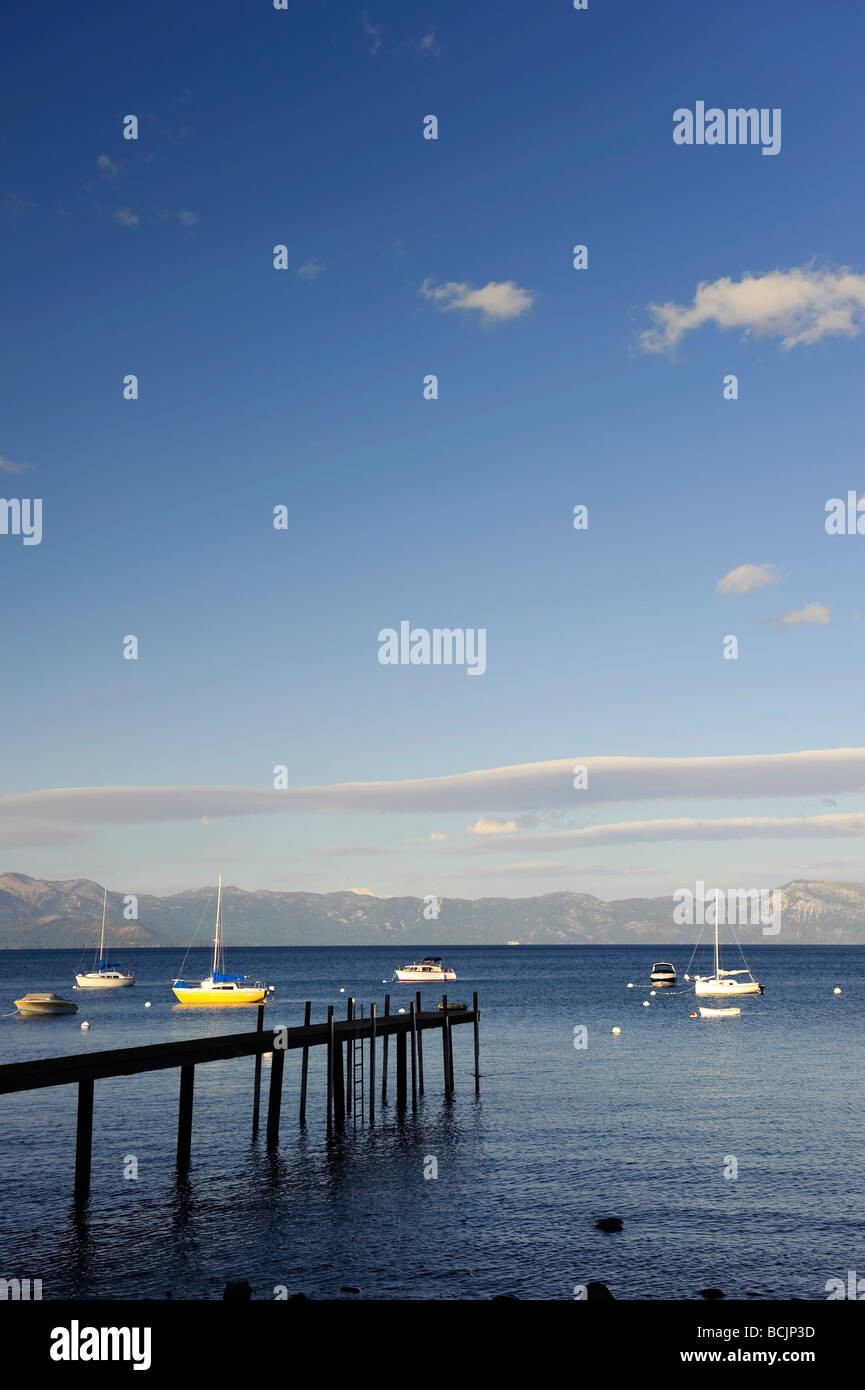 USA, California/Nevada, Lake Tahoe Stock Photo