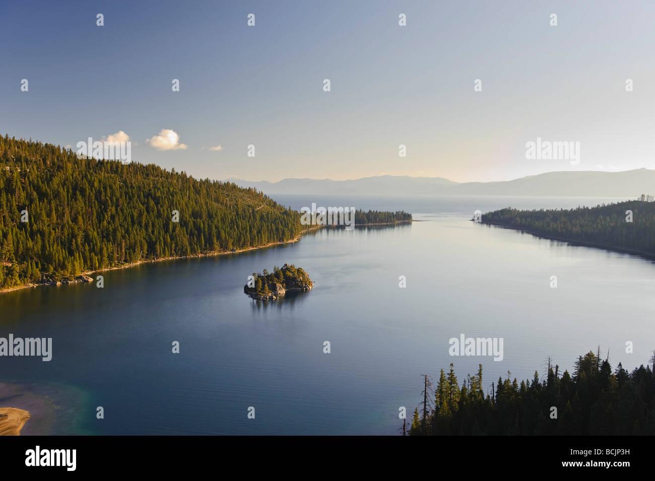 USA, California/Nevada, Lake Tahoe, Emerald Bay Stock Photo