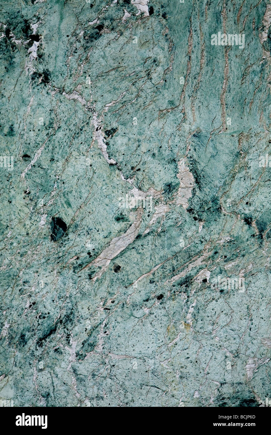 green marble background - Stock Image
