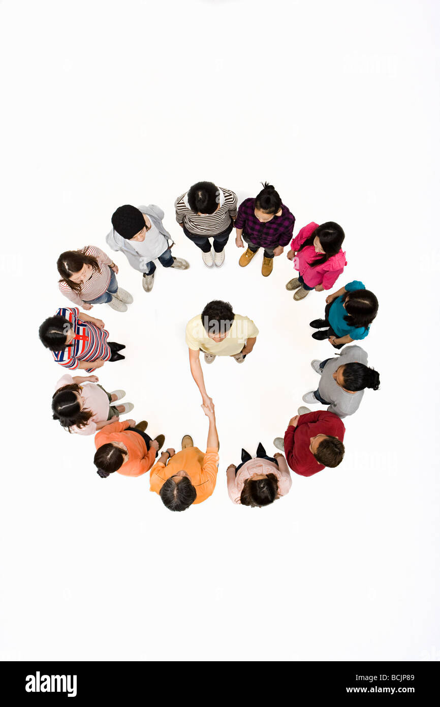 Person Surrounded By People Stock Photos Amp Person