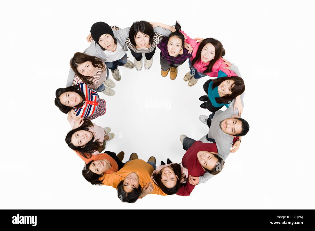 Circle of people - Stock Image