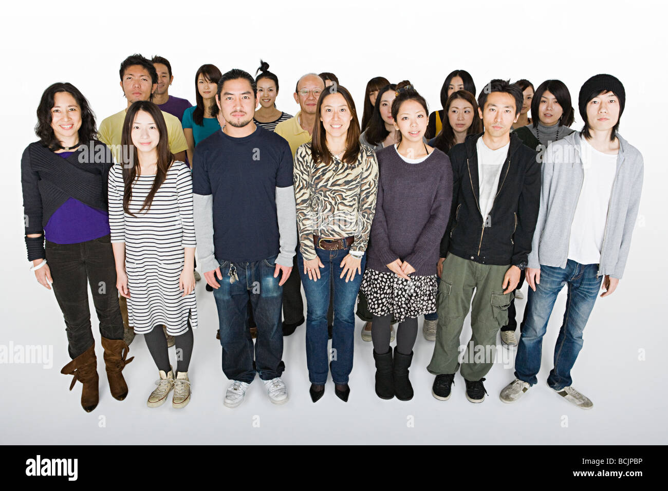 Large group of people - Stock Image