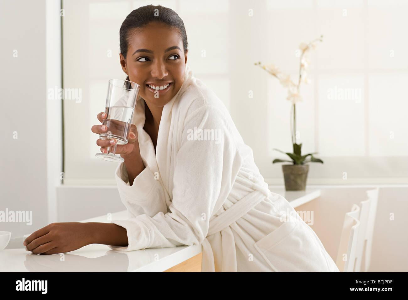 Woman at health spa Stock Photo