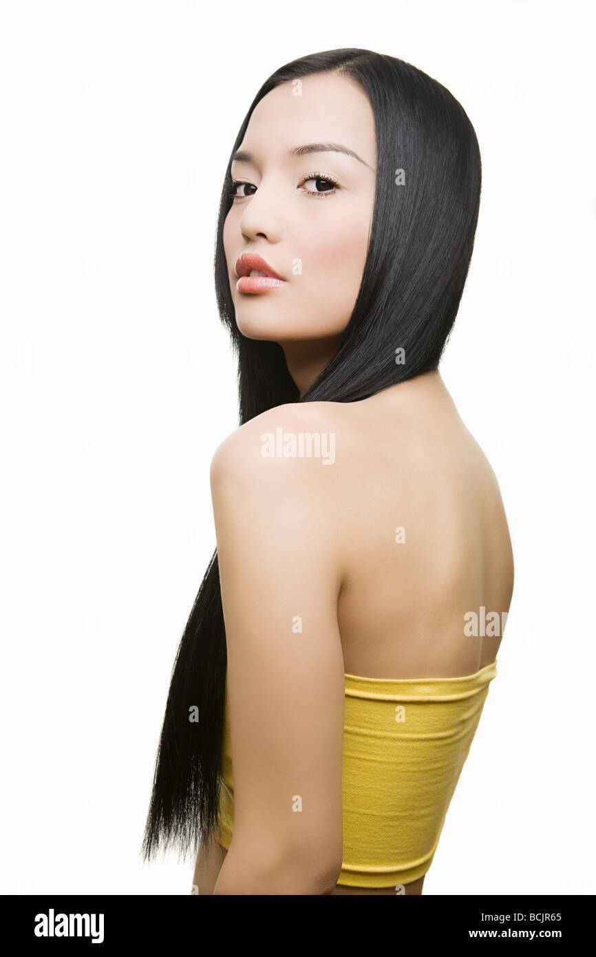 Beautiful young woman - Stock Image