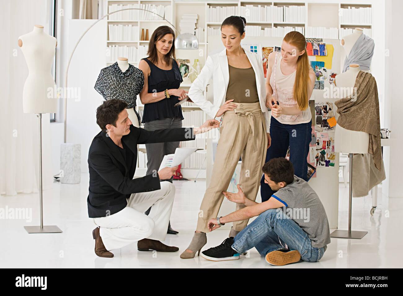 fashion designers at work stock photo 24999733 alamyfashion designers at work