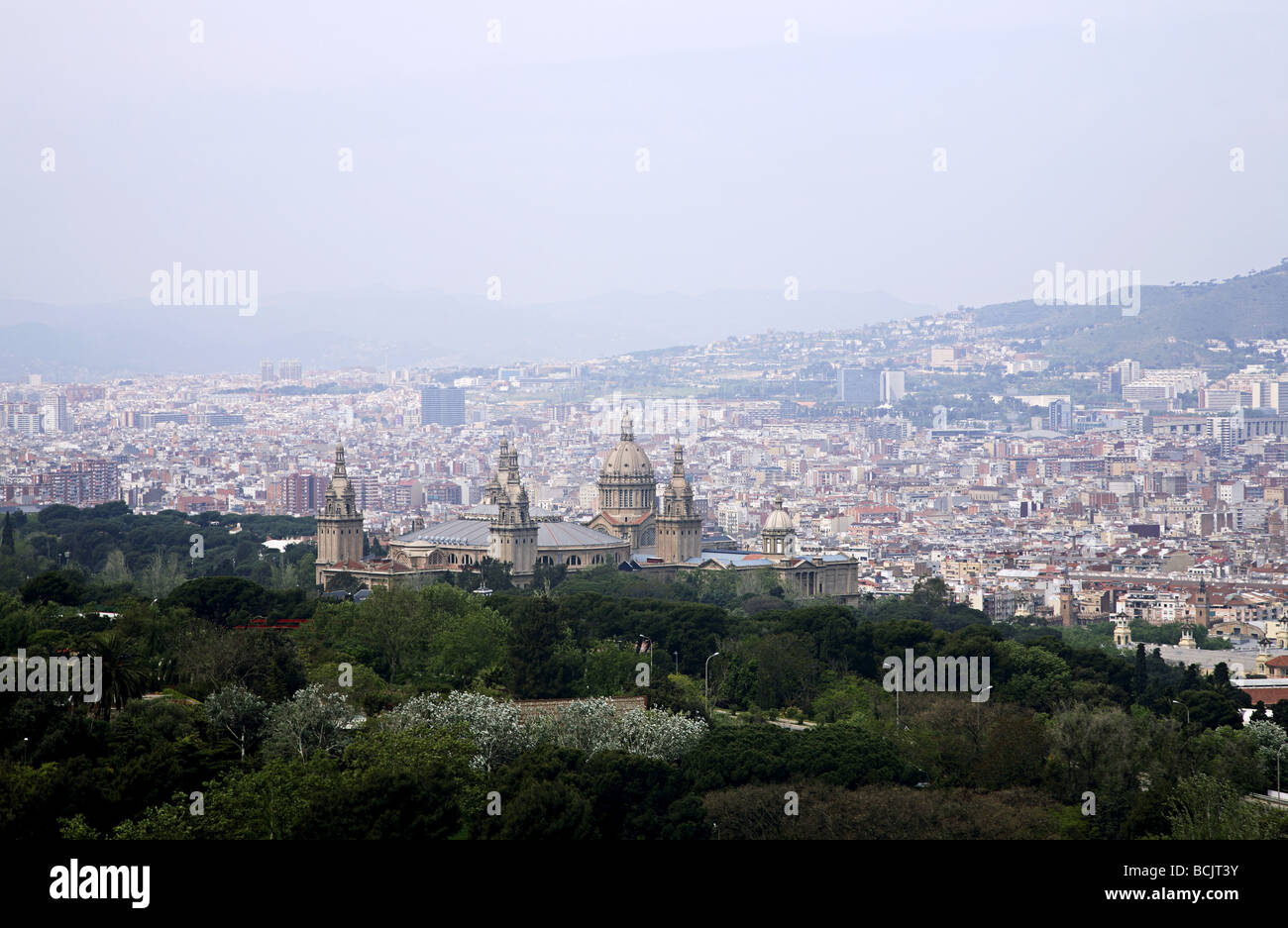 National art museum of catalonia and barcelona - Stock Image