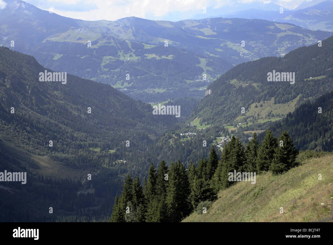 Scenery near mont blanc - Stock Image