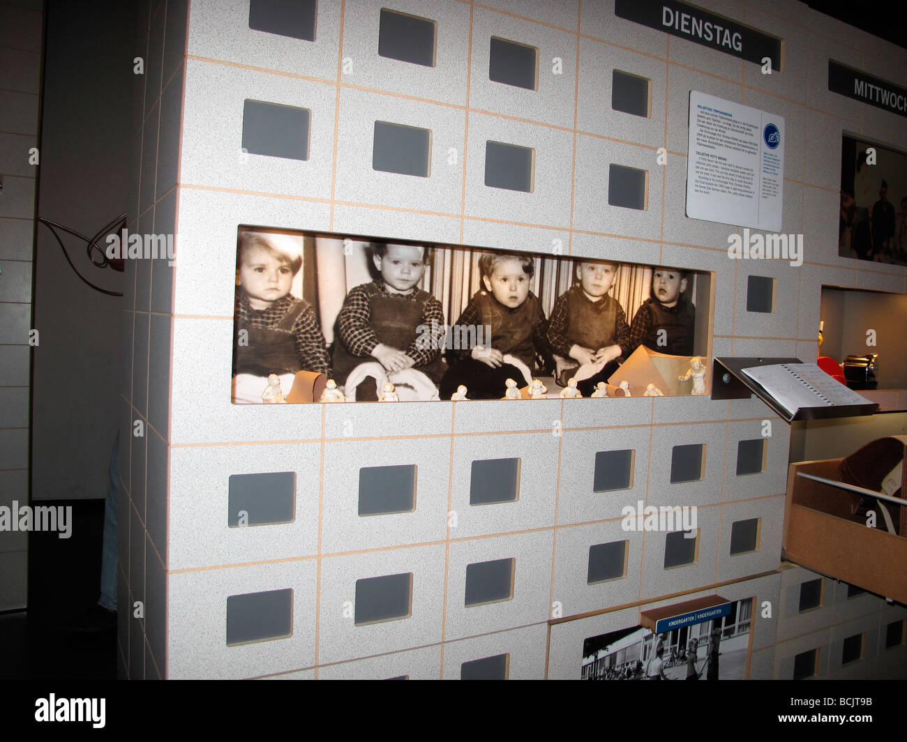 DDR museum at canal Spree in Berlin Germany May 09 - Stock Image