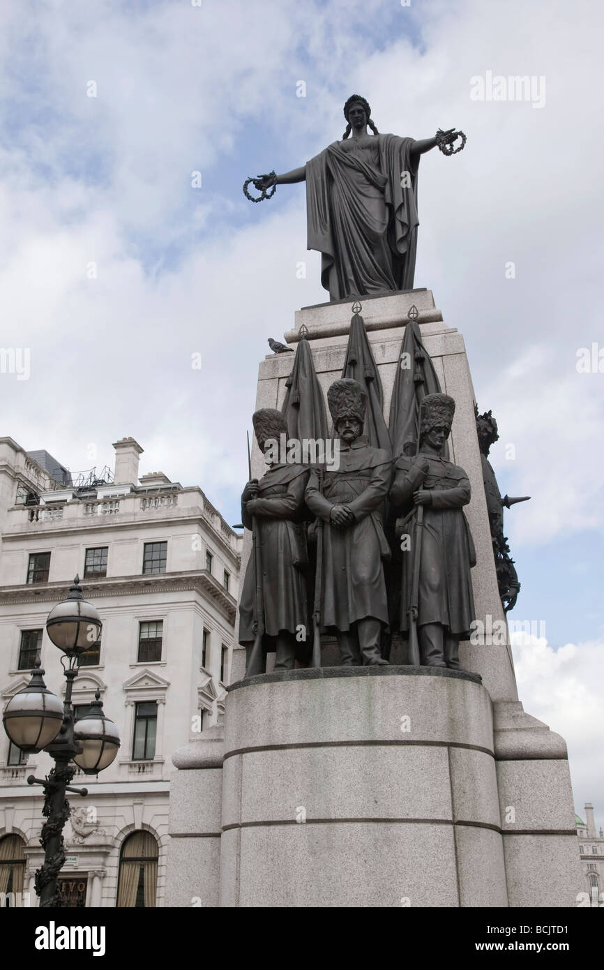 The memorial to the fallen of the Crimean war in London - Stock Image