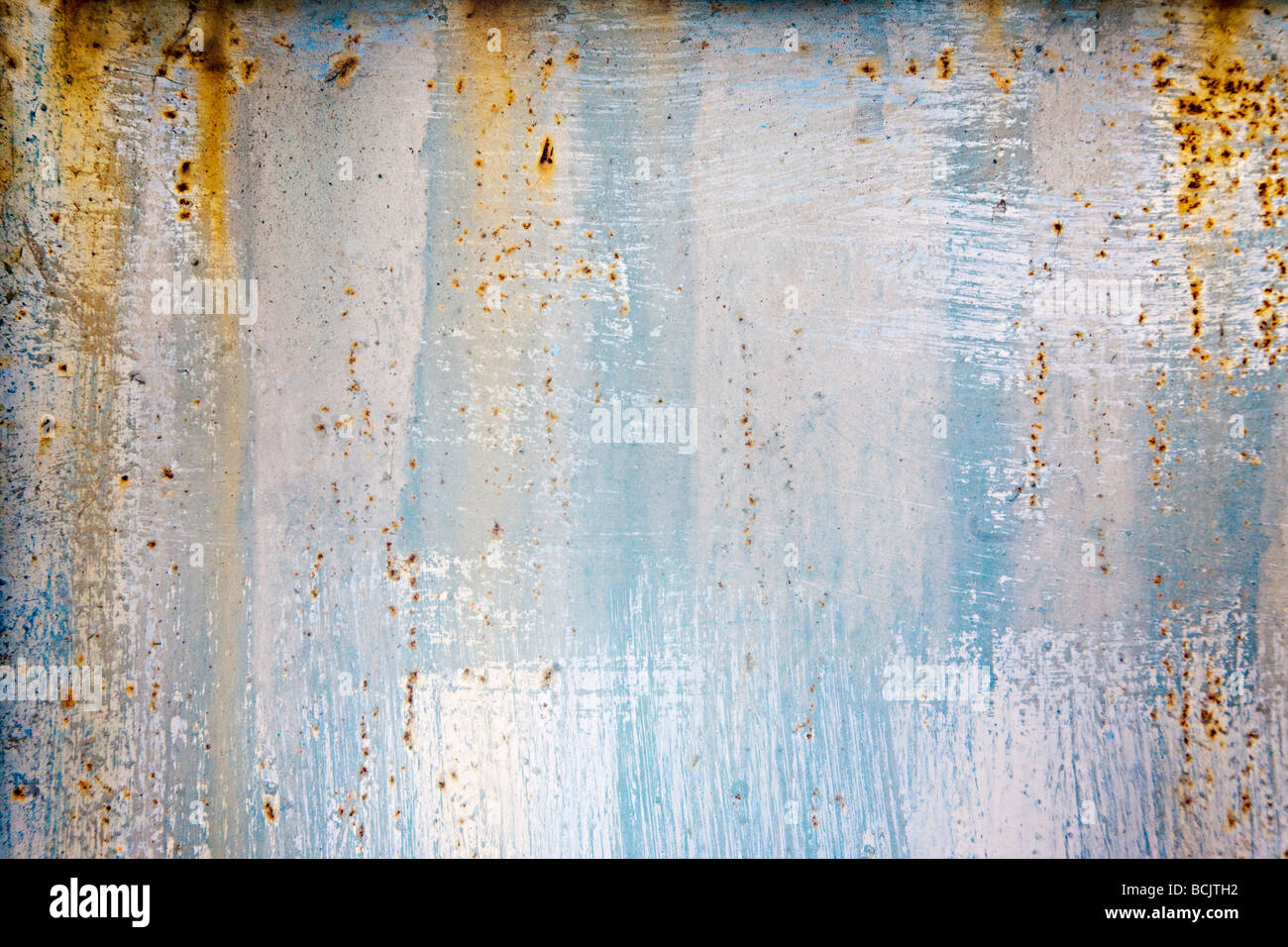 A rusting wall - Stock Image