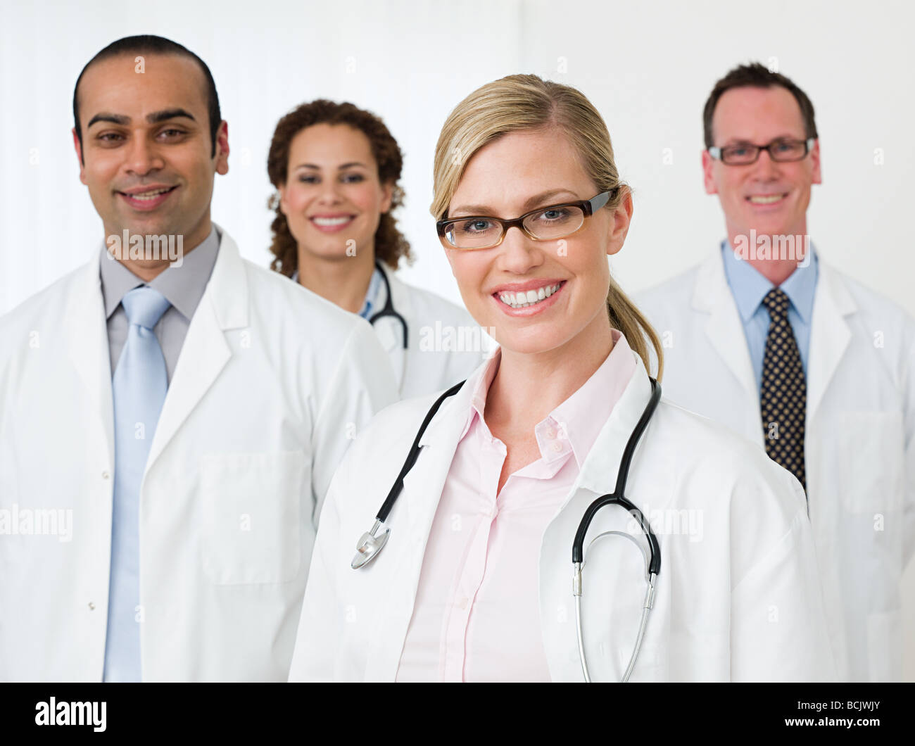 Four doctors - Stock Image