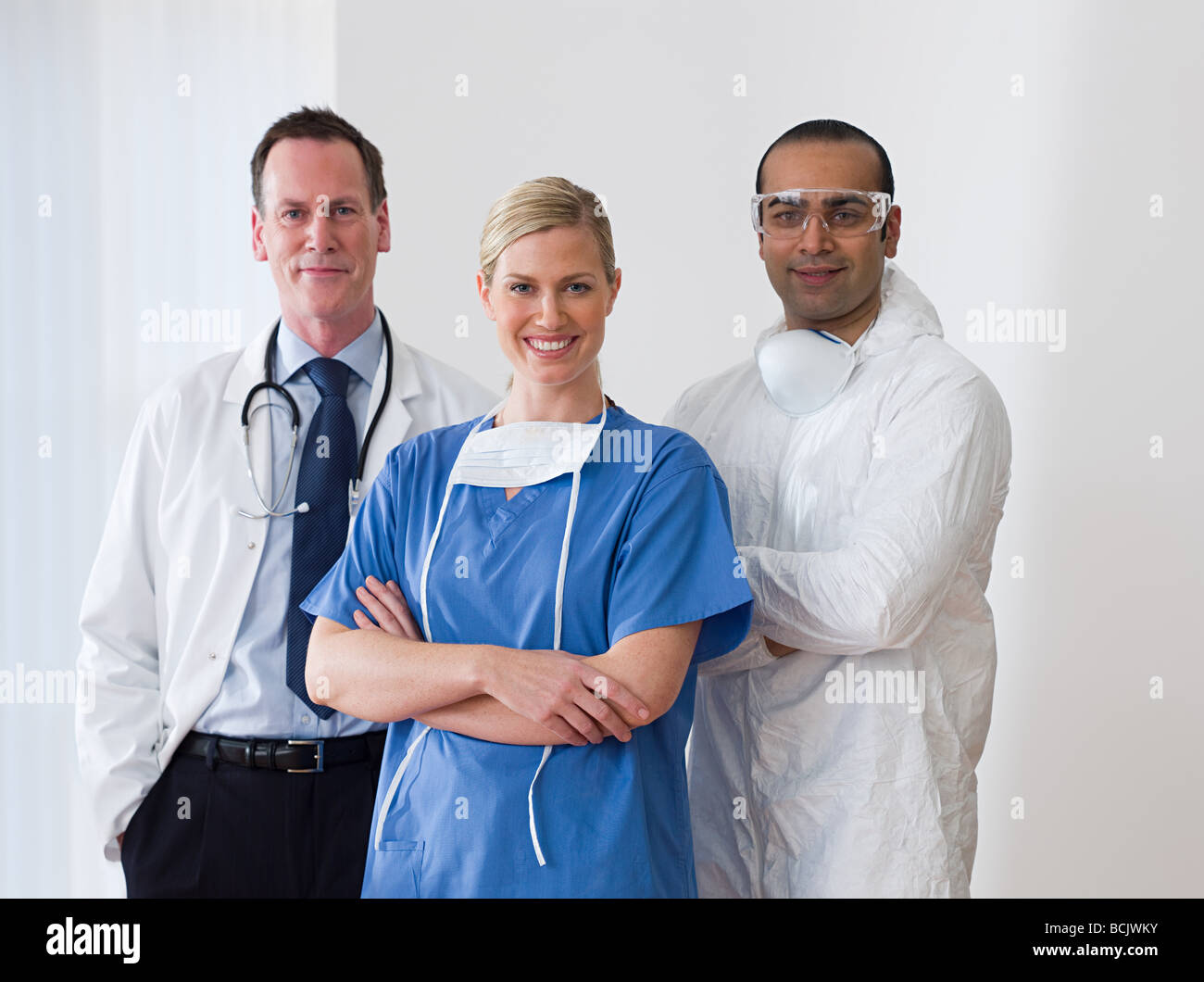 Three healthcare colleagues - Stock Image