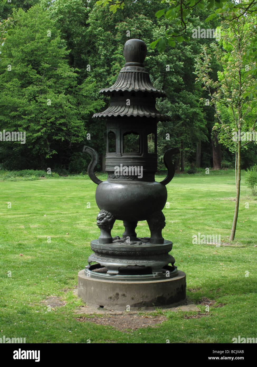 Germany Berlin Sanssouci park in Potsdam a bronze incense burner - Stock Image