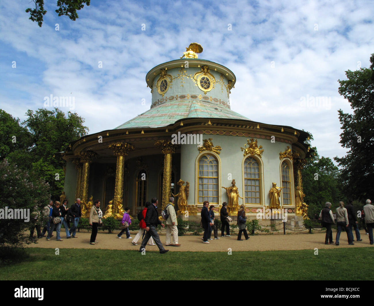 Germany Berlin Sanssouci park chinese house in Potsdam - Stock Image