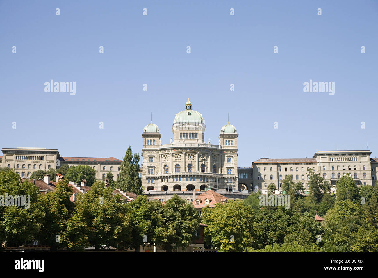 Federal building in berne switzerland - Stock Image