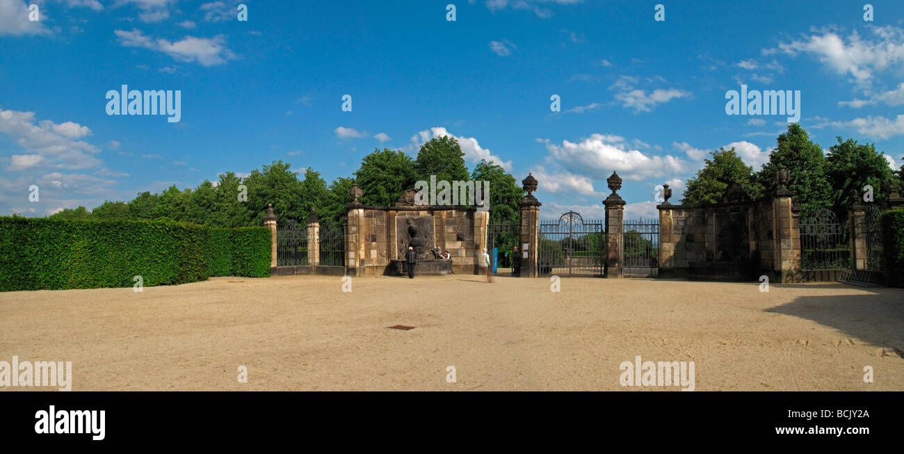 Germany Saxony Großsedlitz Baroque garden near Dresden - Stock Image
