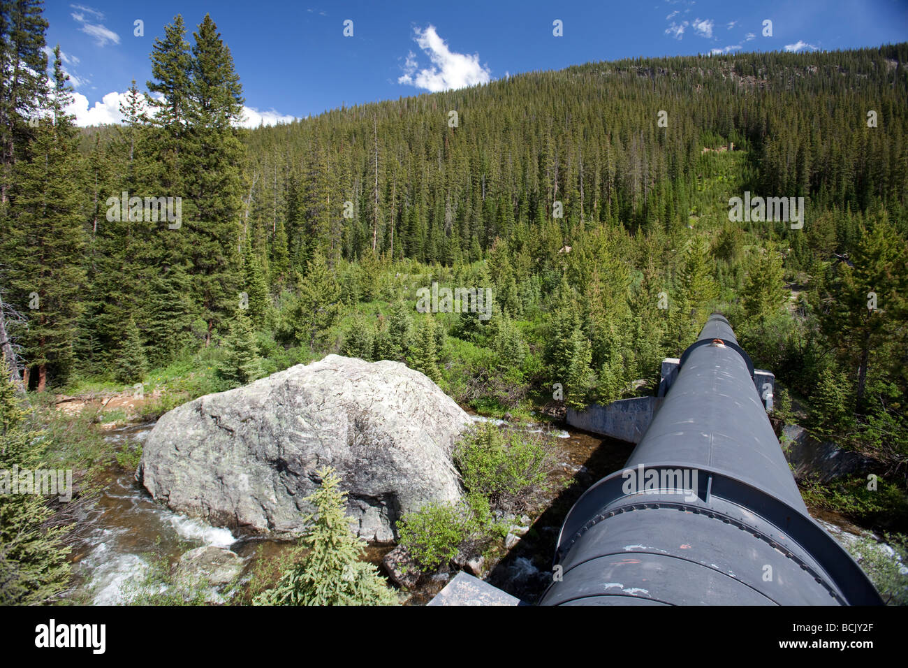 Water Diversion Pipeline - Stock Image