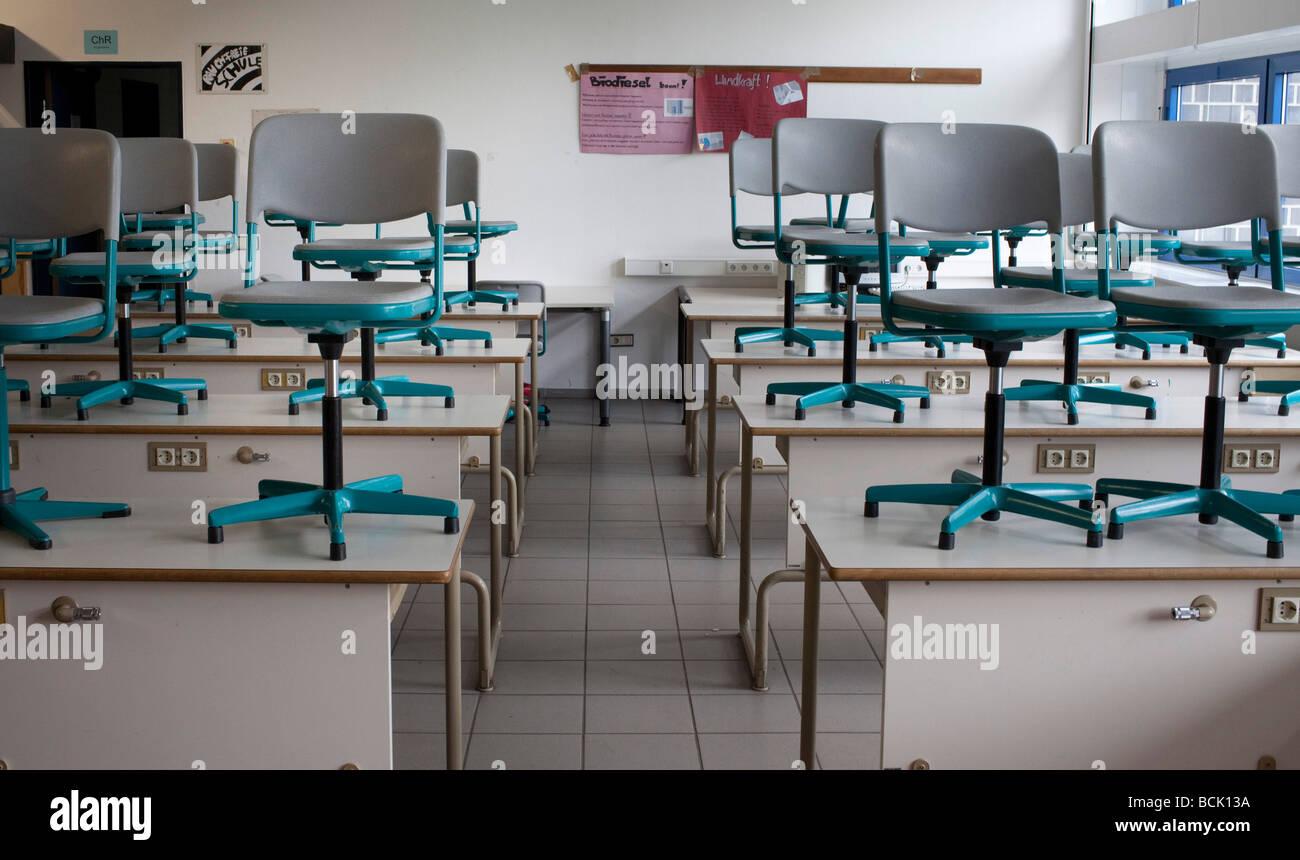Empty class room Stock Photo