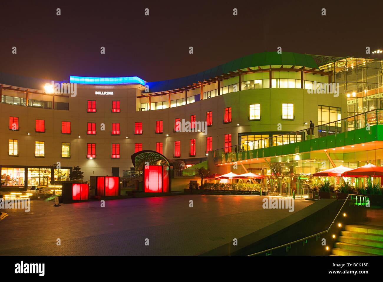 Selfridges, Bullring shopping mall in Birmingham at night, West Midlands of England Stock Photo