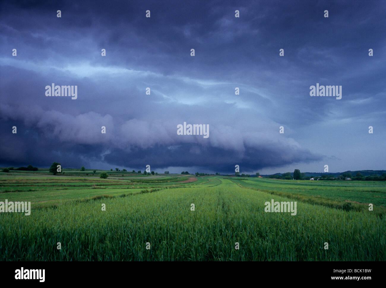 Cumulonimbus Terrible Thunder Cloud Extreme Weather - Stock Image