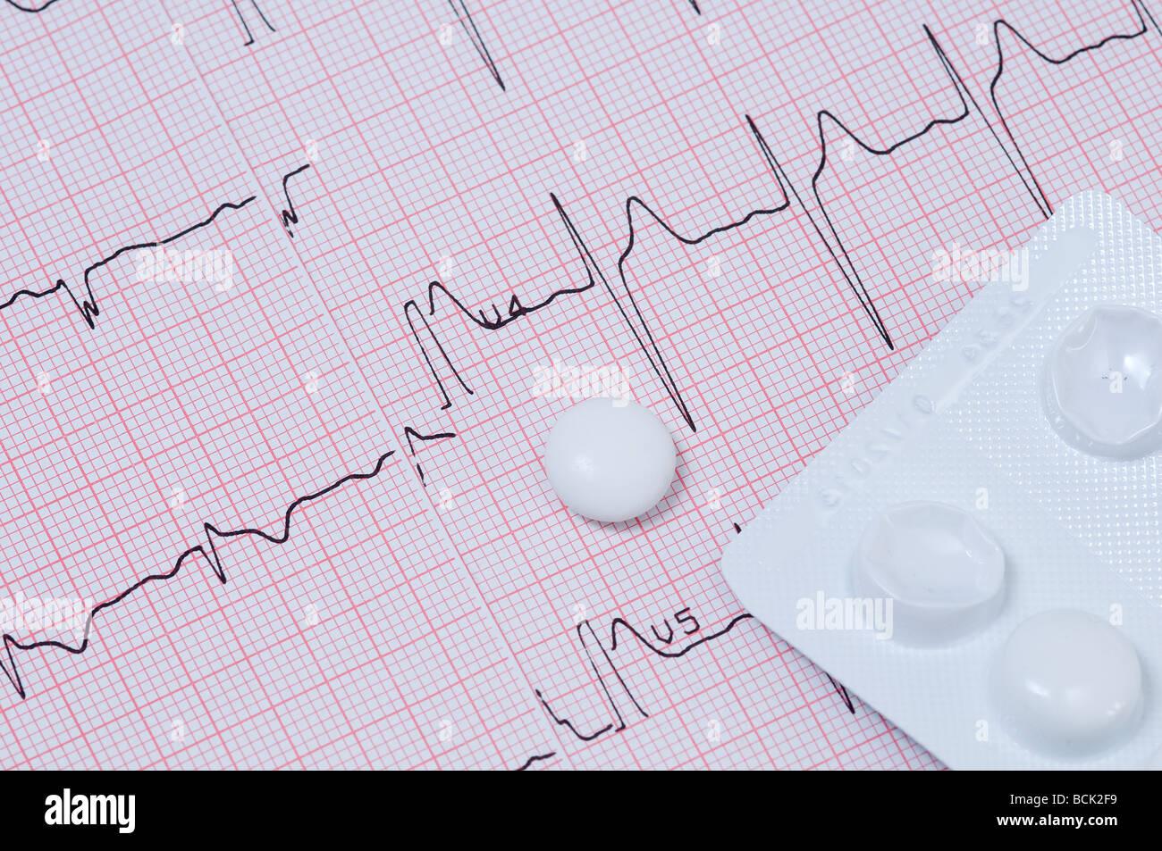 checkup and pills - Stock Image