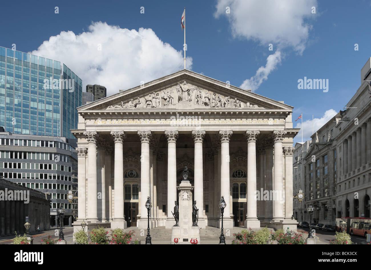 Royal Exchange London England UK Europe now a luxury shopping centre - Stock Image