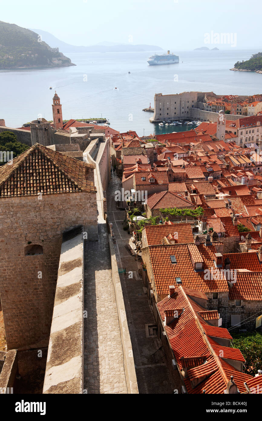 The city walls - Dubrovnik - Croatia - Stock Image