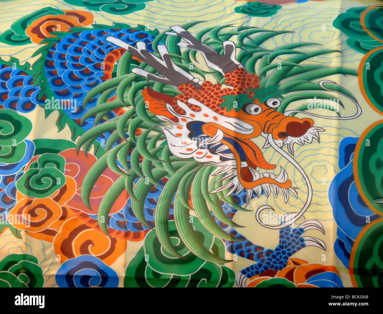 Chinese dragon painting
