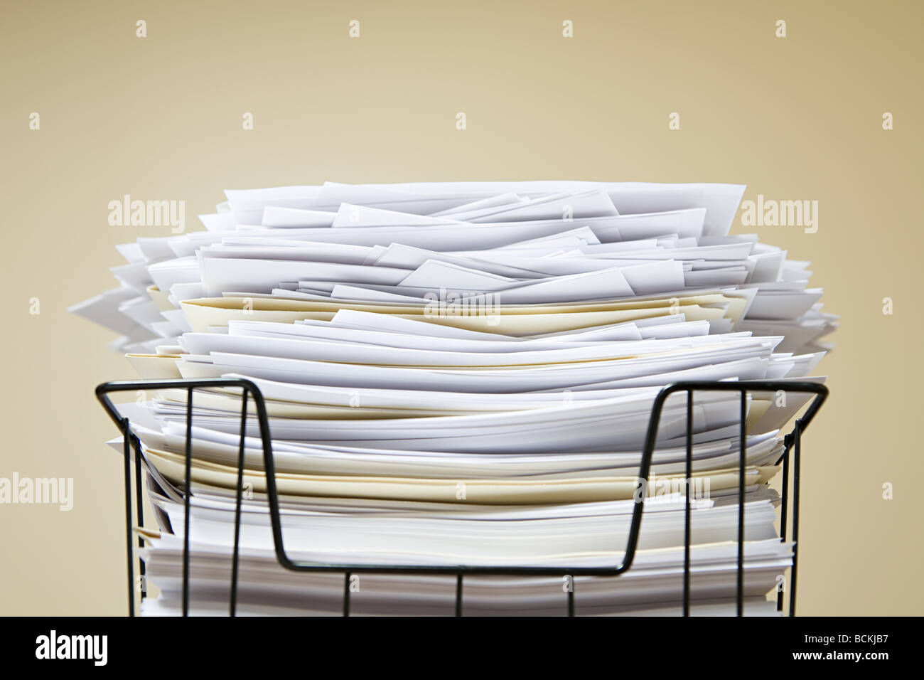 Overflowing inbox - Stock Image