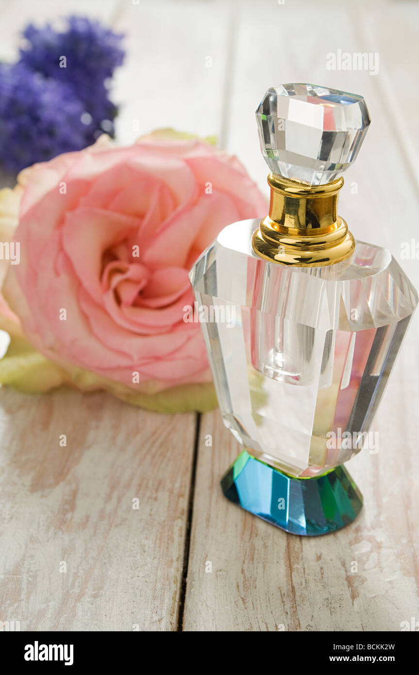 Flowers and perfume - Stock Image