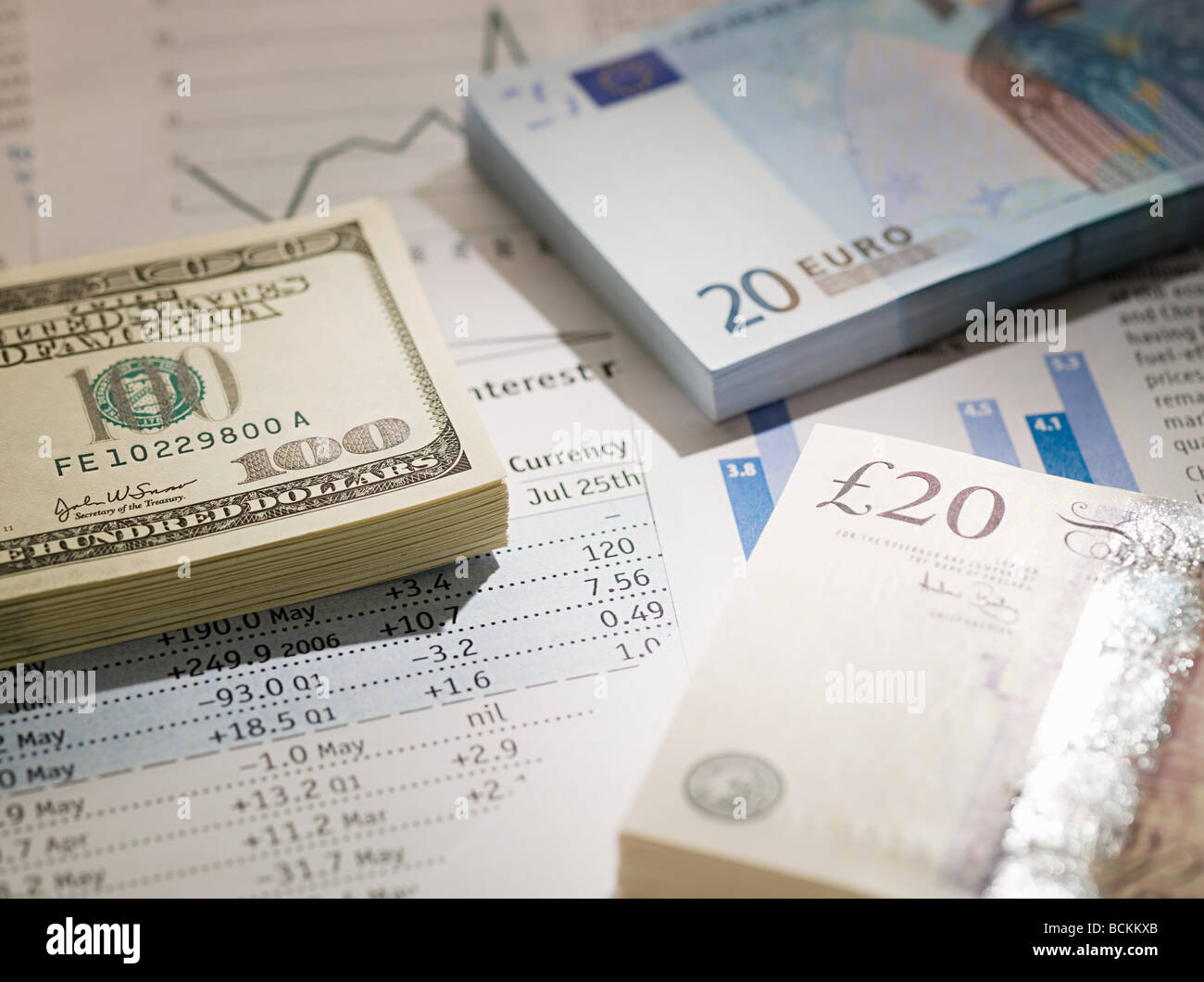 Different currencies - Stock Image