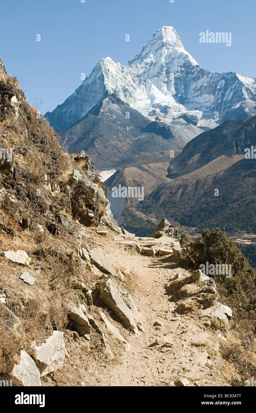 Ama dablam in the himalayas - Stock Image