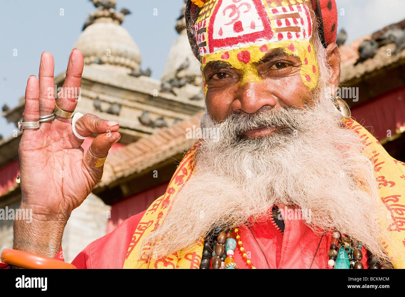 Hindu sadhu - Stock Image