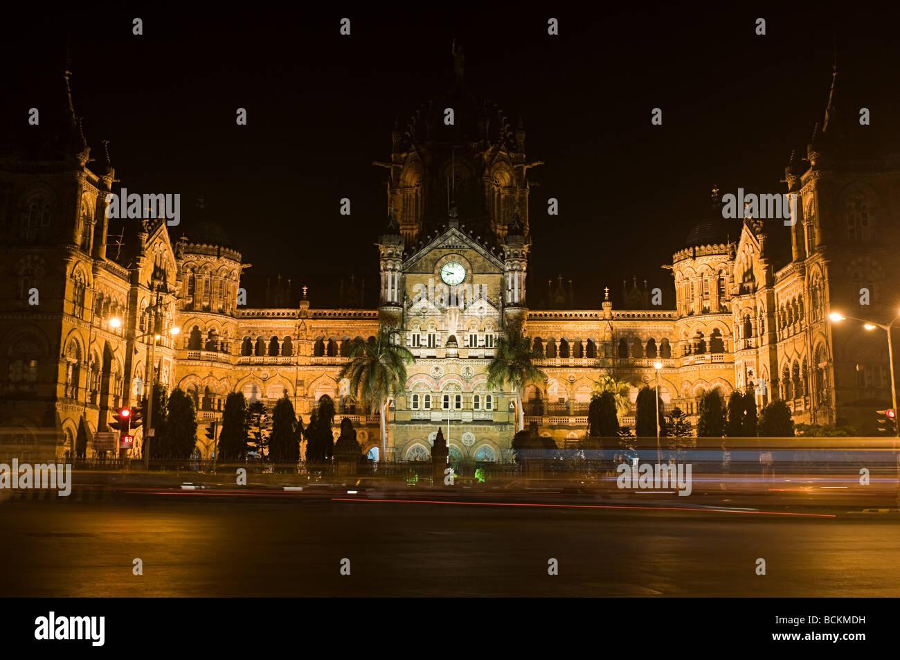 Chhatrapati shivaji terminus - Stock Image