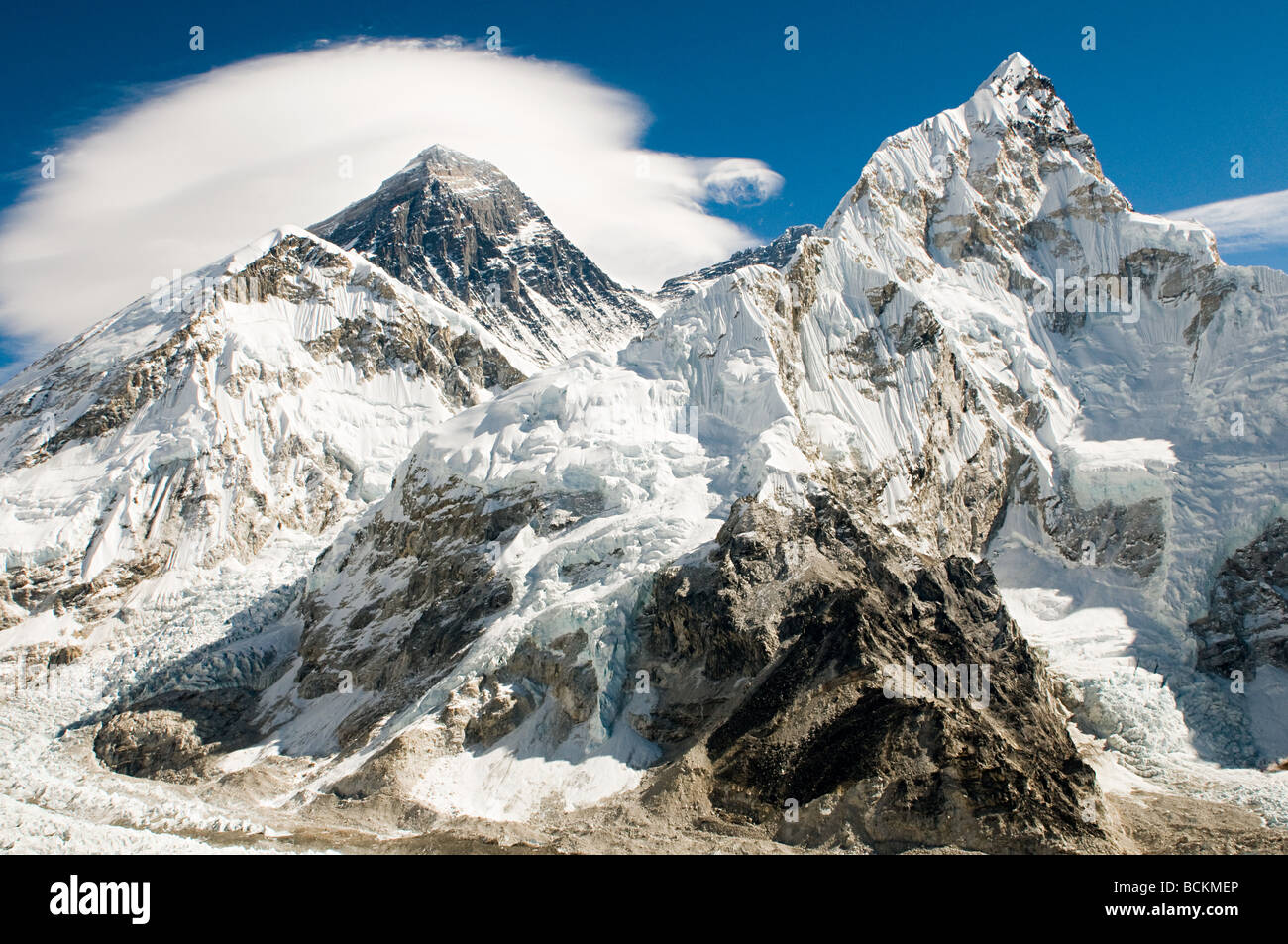 Mount everest and lhotse - Stock Image